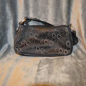 BUY ONE GET ONE 1/2  Black Heart XOXO Shoulder Bag